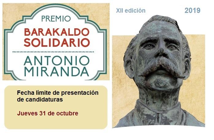 XII Premio Barakaldo Solidario 2019