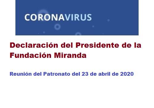 Declaración del Presidente